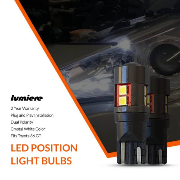 Lumiere Toyota 86 GT LED Position Light Bulbs