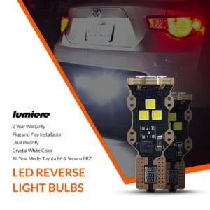 Lumiere Toyota 86 LED Reverse Light Bulbs (Pair)