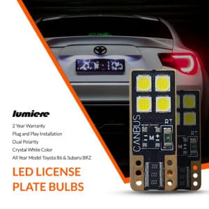 Lumiere Toyota 86 LED License Plate Bulbs (Pair)