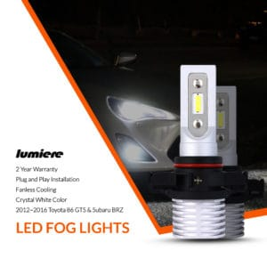 Lumiere Toyota 86 GTS LED Fog Light Bulbs (Pair)