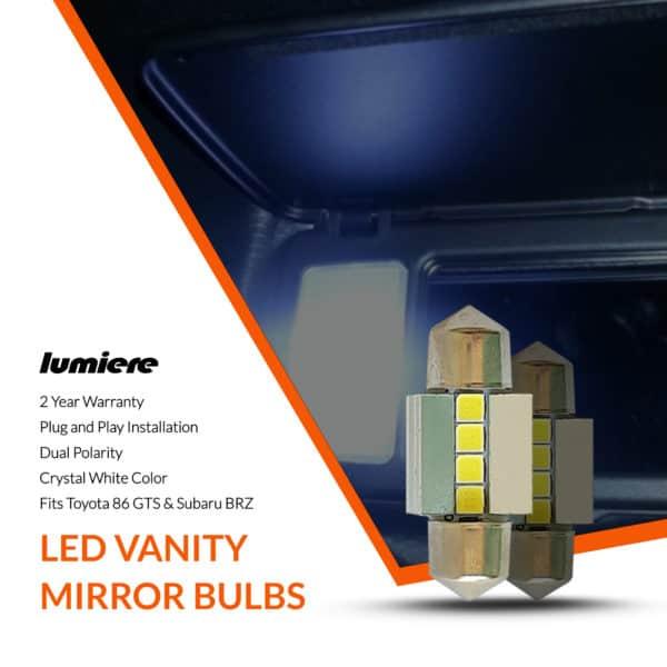Lumiere Toyota 86 GTS LED Vanity Mirror Bulbs