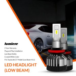 Lumiere Toyota 86 GT LED Low Beam Headlight Bulbs (Pair)