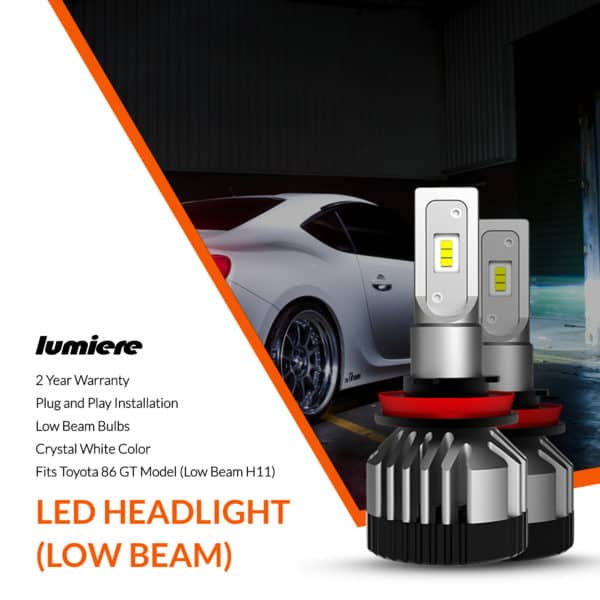 Lumiere Toyota 86 LED Low Beam Headlight Bulbs
