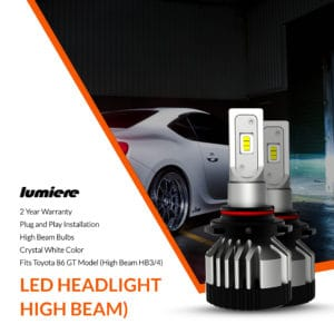 Lumiere Toyota 86 GT LED High Beam Headlight Bulbs (Pair)