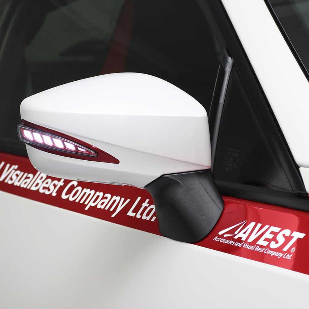 Avest V3 LED Mirrors (Red Model)